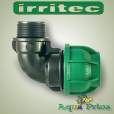 """Кут 40мм Х 1 """"1/4 НР Irritec (Італія)"""