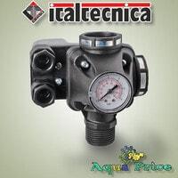 Автоматика реле-давления PM/5-3W Italtecnica с манометром