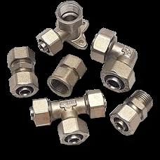 Фитинги и соединения для металлопластиковых труб