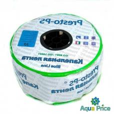 Капельная лента Presto-PS щелевая Blue Line отверстия через 30 см, расход воды 2,7 л/ч, длина 1000 м (BL-30-1000)