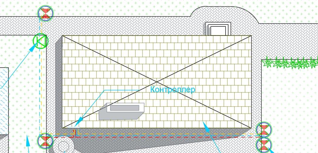 Схема проведения проводов для подключения клапанов Hunter